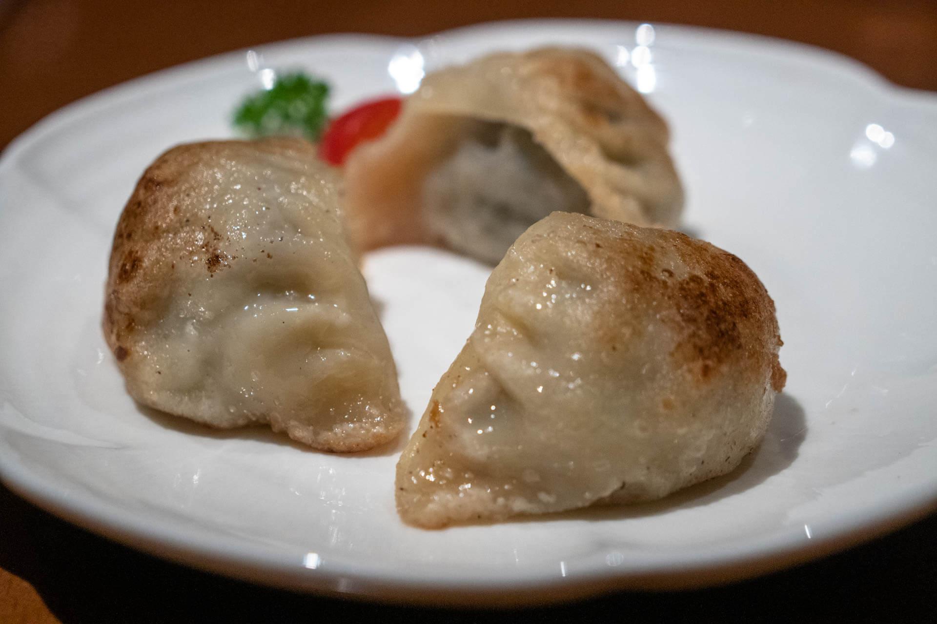 Dumplings mit Wagyu Rind gefüllt