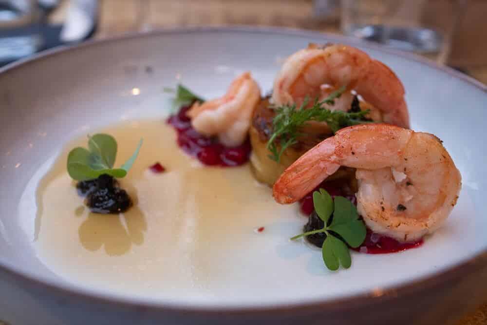 Shrimps schön angerichtet