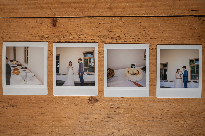 Polaroidfotos einer Hochzeit