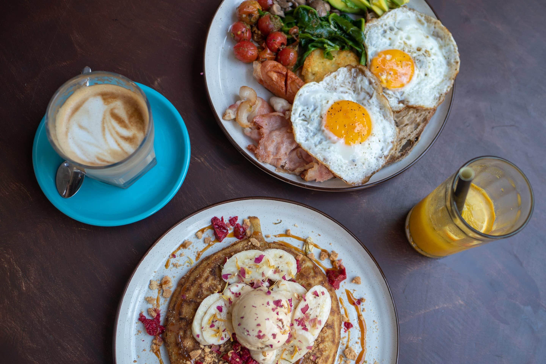 Frühstück im Café Kombuk Colombo