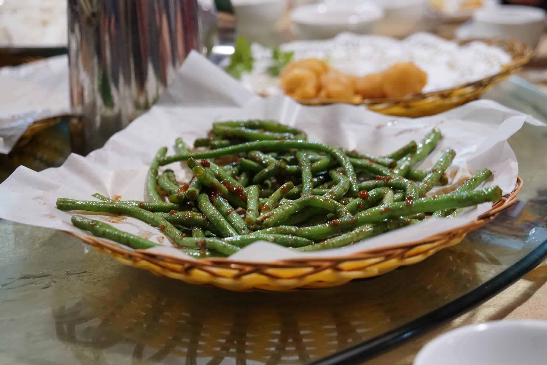 grüne Bohnen chinesisch zubereitet