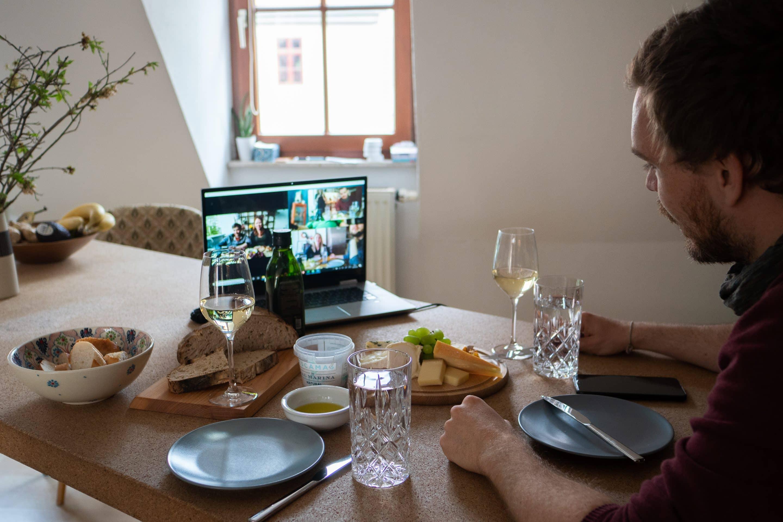 gemeinsam Essen bei Skype