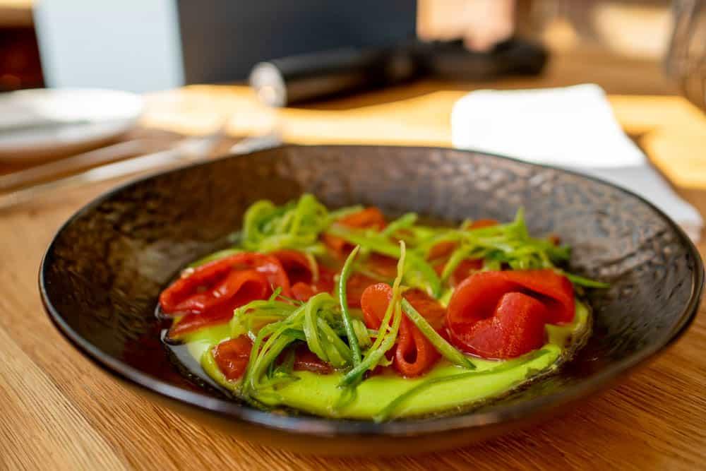 Vegetarisches Wassermelonen Sashimi