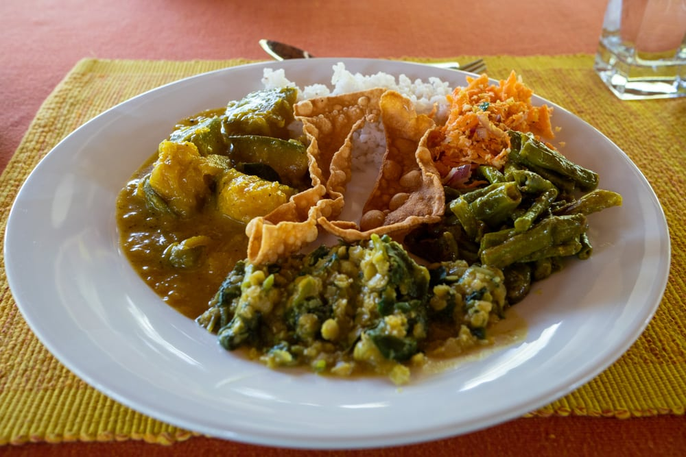 Essen bei einer Ayurveda Kur in Sri Lanka