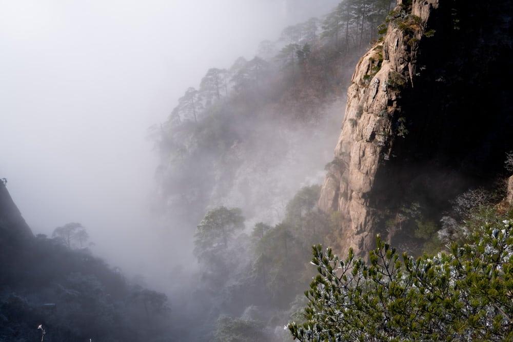 Wandern durch das Huang Shan Gebirge in China